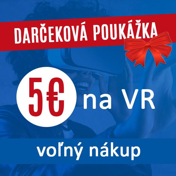 Voľný nákup v hodnote 5€ Darčeková poukážka